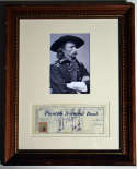 Check  Custer, General Signed/Framed Check 8 JSA LOA