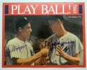 Program  DiMaggio/Williams Signed 1991 Play Ball Calendar 9.5 JSA LOA (FULL)