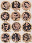 1937 Dixie Lids  12 different w/Clark Gable