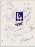 Team Sheet  1981 As (25 w/early Rickey Henderson, Billy Martin) 9.5