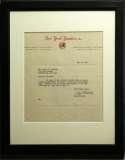 Letter  Krichell, Paul 9.5 JSA LOA