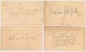 GPC  Collection of 70 Circa 1954 Entertainment Autographs 8