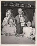 Photo  Mama Cast w/Dick Van Patten (vintage) 8