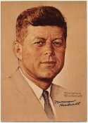 Photo  Rockwell, Norman Signed JFK Image 9.5
