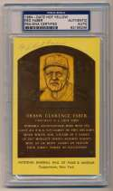 Yellow HOF Plaque 45 Red Faber 8 (PSA slabbed)