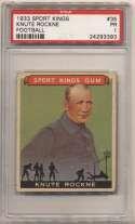 1933 Sport King 35 Knute Rockne PSA 1