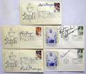 3 x 5   Football HOF Signed Flat Collection (68 pcs) 9