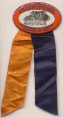 1937 Pin  Michigan-Illinois October 30, 1937 Pin w/ribbon Ex-Mt/NM