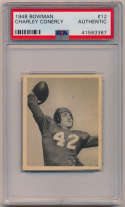 1948 Bowman 12 Conerly PSA Authentic