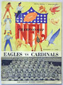 1948 Program  Eagles/Cardinals Championship Program VG