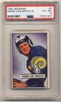 1951 Bowman 4 Van Brocklin PSA 6