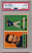 1957 Topps 138 Johnny Unitas RC PSA 4