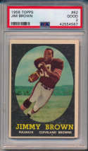 1958 Topps 62 Jim Brown RC PSA 2