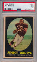 1958 Topps 62 Jim Brown RC PSA 5
