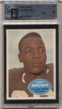 1960 Topps 23 Jim Brown GAI 7
