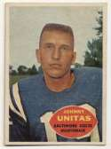 1960 Topps 1 Johnny Unitas Ex