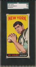 1965 Topps 122 Joe Namath RC SP SGC 1.5