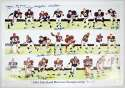 Large Print  1964 Cleveland Browns 9.5