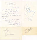 3 x 5  Collection of 18 Autographs w/HOFers & 1930s players 9