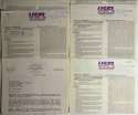 Contract  Collection of 10 USFL Contracts 9 JSA LOA