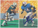 Goal Line  Collection of 50 different signed postcards 9.5
