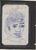 Joe Namath 1969 Vintage Signed Childs Artwork 9.5