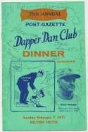 Program  Art Rooney/Chuck Noll/Pie Traynor Signed 1970 Program (22 sigs) 9