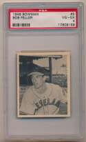 1948 Bowman 5 Feller PSA 4