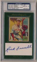 Cut  Ferrell, Rick (w/Diamond Star card) PSA 10