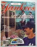 Program  Ford, Whitey Signed 1987 Yankees Magazine + Replica 1927 Ticket 9.5 JSA LOA (CARD)