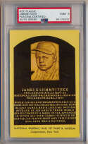 Yellow HOF Plaque 52 Jimmie Foxx (signed back) PSA 9
