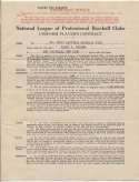 Contract  Frisch, Frank 1934 Cardinals Player-Manager Contract 9.5 JSA LOA (FULL)