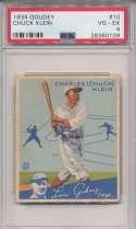 1934 Goudey 10 Klein PSA 4