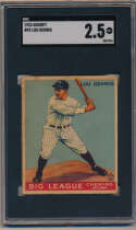 1933 Goudey 92 Lou Gehrig SGC 2.5