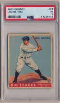 1933 Goudey 92 Lou Gehrig PSA 1