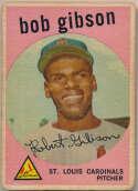 1959 Topps 514 Bob Gibson RC Fair mk