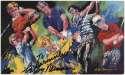 Postcard  Neiman, Leroy Signed/Inscribed 1984 Golf Image Postcard 9.5