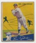 1934 Goudey 28 Coleman GVG