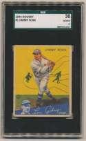 1934 Goudey 1 Foxx SGC 2