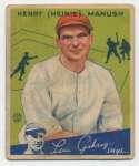 1934 Goudey 18 Manush Good
