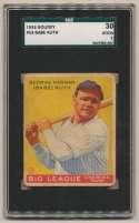 1933 Goudey 53 Babe Ruth SGC 2