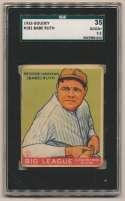 1933 Goudey 181 Babe Ruth SGC 2.5