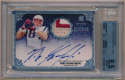 2010 Topps Five Star 161 Rob Gronkowski Signed RC/Jersey Card Beckett 8.5
