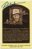Yellow HOF Plaque 73 Rickey Henderson 9.5