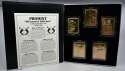 1995 Pro Mint Diamond Edition 22K Gold Cards  Set of 5 in Original Case Nm-Mt