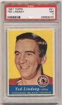 1957 Topps 21 Ted Lindsay PSA 7
