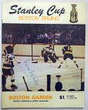 Program  1970 Boston Bruins Brawl Program w/3 sigs incl. Gordie Howe 9.5