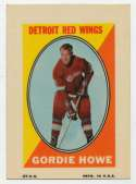 1970 Topps Sticker Stamps  Howe Ex-Mt+