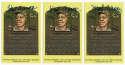 Yellow HOF Plaque 1 Hank Aaron (lot of 5) 9.5