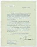 Letter  Truman, Harry 9.5